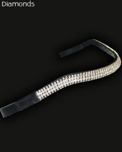 Pink Equine Diamond Wave Silver Browband