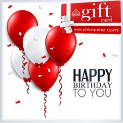 Gift Card Red and White Balloons