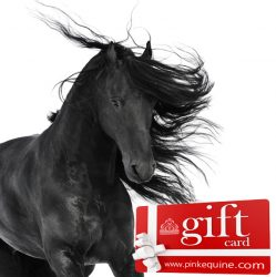 Gift Card Horse Black Flowing Mane