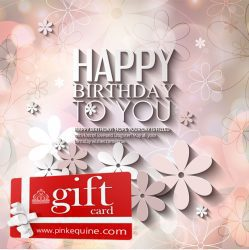 Gift Card Happy Birthday Flowery