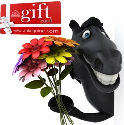 Gift Card Horse Fun Flowers Smile