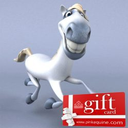 Gift Card Horse Fun Grey