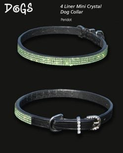 4 Liner Mini Crystal Dog Collar Crystal AB