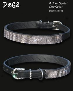 Black Diamond Encrusted Dog Collar