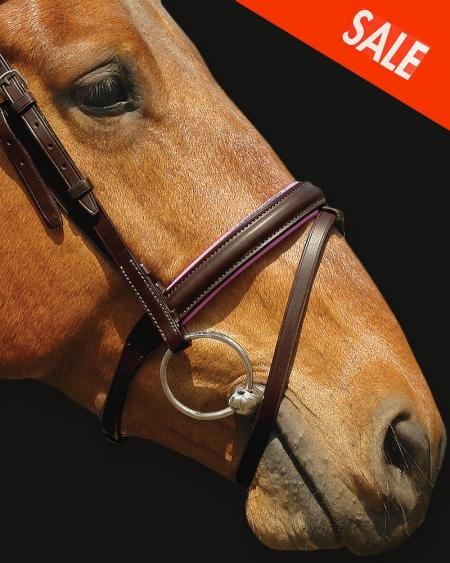 Horse Noseband English with Flash Brown