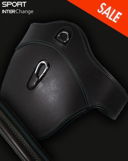 Leather Jumping Girth Black