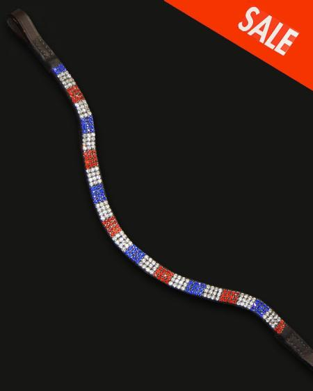 Bling Browband Wave Patriot Design