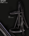 Sport Interchange English Flash Bridle with Lilac Piping