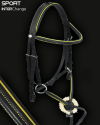 Sport Interchange Grackle Bridle with Sunflower Yellow Piping