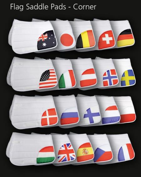 HKM Flag Saddle Pad Countries